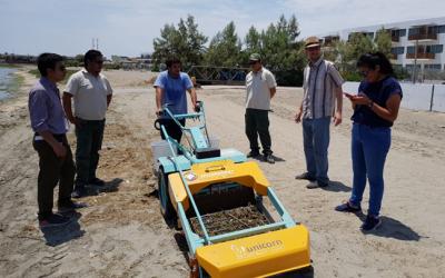 Entrega de limpia playas al SERNANP