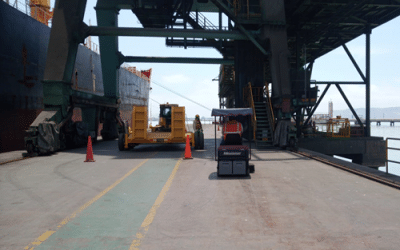 Entrega barredora para puerto de minerales